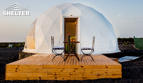 seaside dome - glamping dome tent for sale - seaside glamping tent