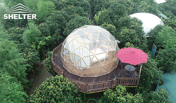 glass dome - glamping dome - dome tent - PVC dome (5)