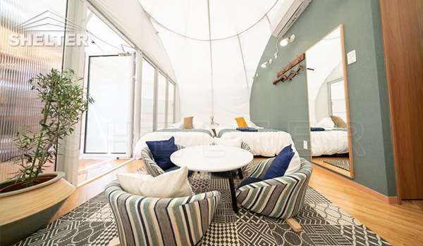 waterdrop pod - luxury glamping tent - Dome tent (3)