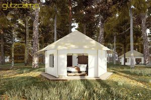 mono peak tent hotel-deluxe lodge tent house for couple-luxury lodges glamping for sale-glitzcamp (1)