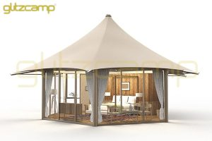 luxury lodge tents for glamping campsite-mono peak lodges with glass walls-unique hotel tent for sale-luxury camping tent lodge for eco resorts-glitzcamp glamping tent (1)