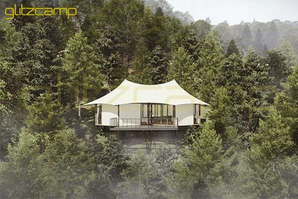 safari tent glamping - limestone resort tent - mountain luxurious canvas tent accomadation - 4-6 people hotel tent on rugged mountain road-Glitzcamp (1)