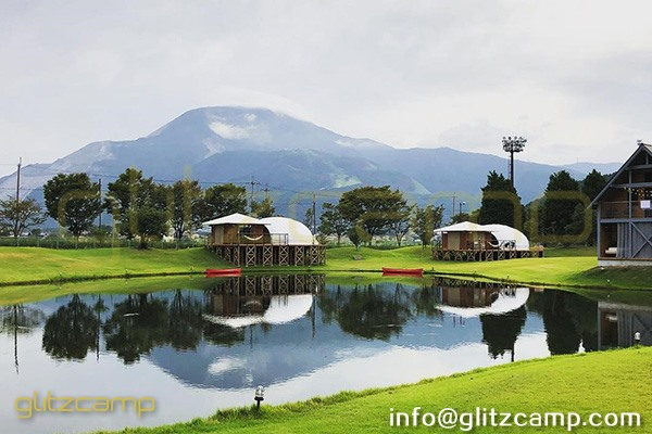 dewdrop dome tent-waterdrop glamping domes for lakeside or seaside resorts-luxury glamping tents holidays in Japen-glitzcamp (2)