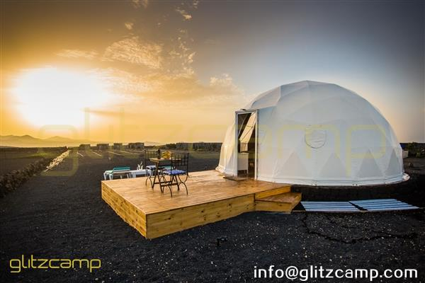 glamping dome hotel for mountain camp-well decorated eco living geodome tents-geodesic dome house for comfy outdoor accommodation-glitzcamp (3)
