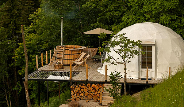winter dome tent - four seasons glamping tent for sales - diameter 6m dome price