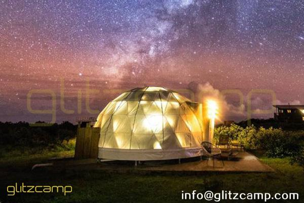 luxury dome tents for ranch resorts-glamping dome house in Hawaii ranch campsite-deluxe dome hotels for farm camp-eco living domes sales uk usa canada india africa-glitzcamp (1)