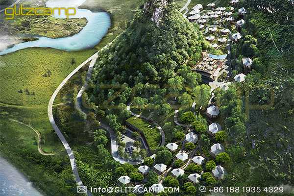 glampsites planning turnkey solution-glamping tent structures for glamping campsites-luxury tent design for eco resorts-glitzcamp (1)