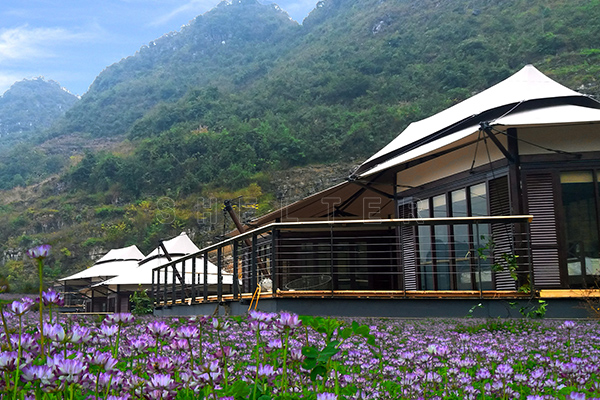 lodge tent for mountain - hotel tent - luxury glamping tent
