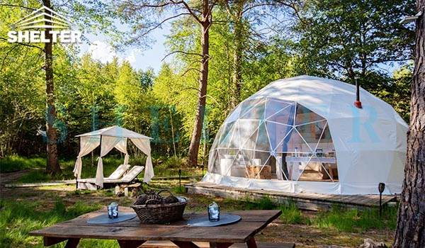 glamping dome suite for forest eco resort-luxury dome hotel for glam camping-unique geodesic dome house for glamping resorts-fully equipped eco dome tent for sale-glitzcamp (2)