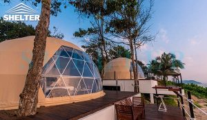 luxury dome tent for seaside resort-geodesic dome house for seaside glamping holidays-geo dome tent hotel for sale malaysia thailand india-glamping dome kit for luxury camping-glitzcamp (1)