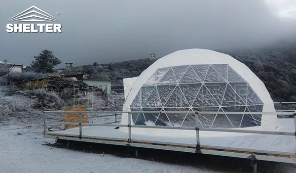 dome snow - glamping dome - highland tent - dome tent manufacture - Chinese glamping tent seller