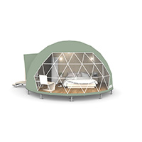 dome tent - glamping dome tent - diameter 6m dome tent