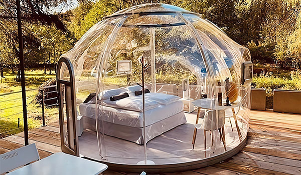 luxury glamping tent - pc dome tent for sales - bubble tent (8)